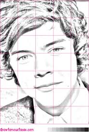 how to draw harry styles from one direction draw famous faces
