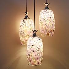 Purple Pendant Light 3 Light Purple Mosaic Glass Pendant Ceiling Light At Lighthotdeal Com