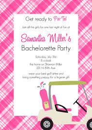 golf themed bachelorette party invitation bachelorette shower