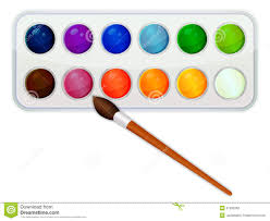 watercolor paint icon with brush stock vector image 51335362