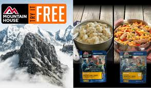 attention hunters hikers and campers free food from mountain