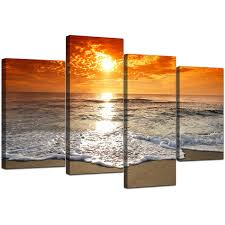 canvas room divider canvas pictures of beach at sunset for your living room
