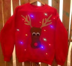 light up ugly christmas sweater cute reindeer also available
