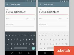 android keyboard app android l keyboard sketch freebie free resource for