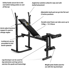 everlast foldable weight bench u0026 40kg barbell weight set amazon