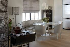 Dining Room Booth Seating by Dining Room Industrial Dining Room With White Marble Oval