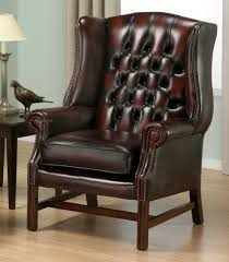 Leather Wing Back Chairs Chairs Georgain Wing Chairs Leather Wingback Chair Georgian High