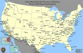 united states major cities map map of united states and mexico with cities major