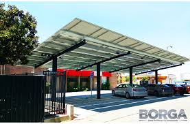 Solar Canopy by Solar Panel Structures Borga