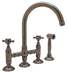 Rohl Kitchen Faucets Reviews by Rohl A1461xmwspn 2 Country Kitchen High Arc Bridge Faucet With