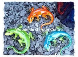 resin blue gecko lizard home or garden ornament woodside garden