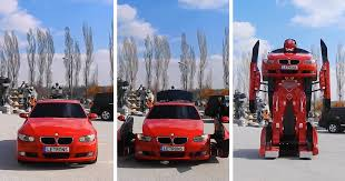 all bmw cars made engineers just made a driveable bmw transformer