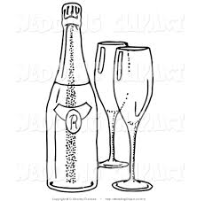 champagne glass cartoon champagne glass drawing clip art 25