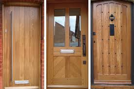 Solid Oak Exterior Doors Contemporary Wooden Front Doors Pertaining To External Solid Oak