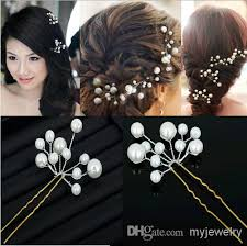 pearl hair accessories wedding bridal pearl hair pins flower hair