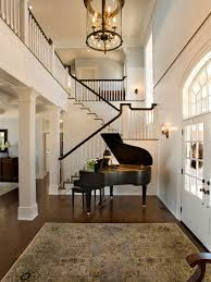 Foyer Chandelier Height Spacious Mitch Wise Design Two Story Foyer With Grand Piano
