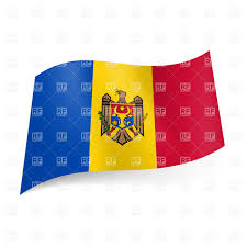 Red Flag Band National Flag Of Moldova Blue Yellow And Red Vertical Stripes
