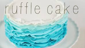 cake trend ombre fondant ruffle tutorial cake style youtube