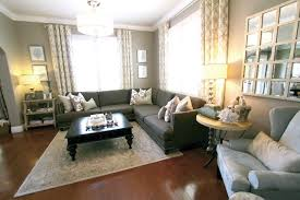 beautiful gray taupe and white transitional living room with