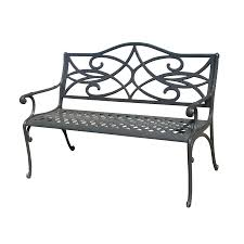 rose red steel patio garden park bench outdoor living picture with
