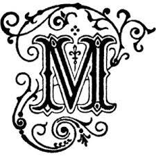 decorative letter m clipart polyvore initials monograms