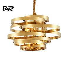 aliexpress com buy post modern chandelier lighting gold