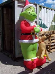 Grinch Blow Up Yard Decoration by Gemmy Airblown Christmas Inflatable 8ft Grinch W Max Rare Yard