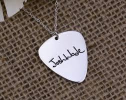 Engraved Guitar Pick Necklace Plectrum Necklace Etsy