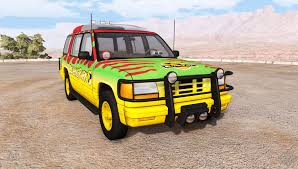 gavril roamer tour car jurassic park v1 0 for beamng drive
