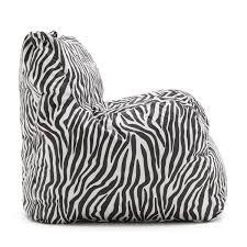 Big Joe Zebra Bean Bag Chair Amazon Com Big Joe Dorm Chair Zebra Kitchen U0026 Dining