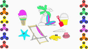coloring pages beach clothes easter eggs tree and sweet ice cream