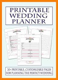 Resume For Wedding Planner 7 Free Printable Wedding Planner Organizer Hostess Resume