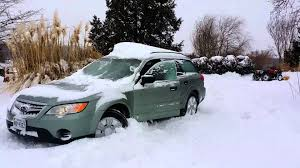 subaru winter 2009 subaru outback in deep snow youtube