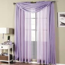sheer purple window scarf