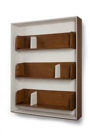 furniture cool wooden wall mounted bookshelves design by gerard de