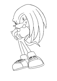 knuckles the echidna coloring pages knuckles the echidna coloring