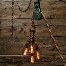 Hanging Industrial Lights by The 6 Beam Industrial Light Barn Pendant Wood Ceiling