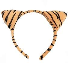 tiger headband childrens headband animal print with ears fancy
