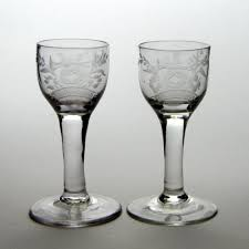antiques atlas pair engraved 18th century plain stem wine glasses