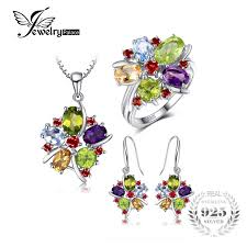 natural amethyst necklace images Jewelrypalace 10ct natural amethyst citrine garnet peridot blue jpg