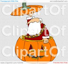 halloween pumpkin transparent background royalty free rf clipart illustration of santa popping out of a