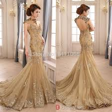 gold wedding dress wedding dresses with gold beading 2014 luxury gold mermaid wedding
