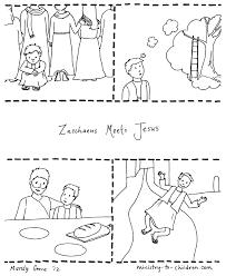 zacchaeus coloring zacchaeus jesus coloring free
