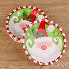 online shop 20pcs christmas paper plate dishes cake dish santa