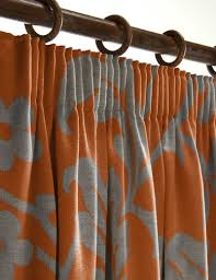 Cheap Grey Curtains Beautiful Orange And Grey Curtains And Popular Orange Gray
