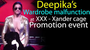 deepika padukone wardrobe malfunction at return of xander