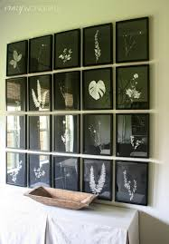 Dining Room Wall Pressed Botanical Gallery Wall Dining Room Progress Crazy