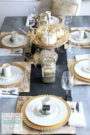 thanksgiving table setting chic california