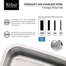 Double Bowl Stainless Steel Kitchen Sink Kraus Kbu26 32 Inch Undermount 60 40 Double Bowl 16 Gauge