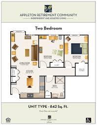 floor plans appleton retirement communityappleton retirement
